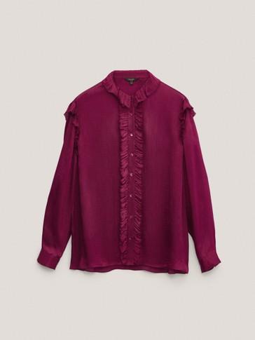 Camisa crepe acetinada