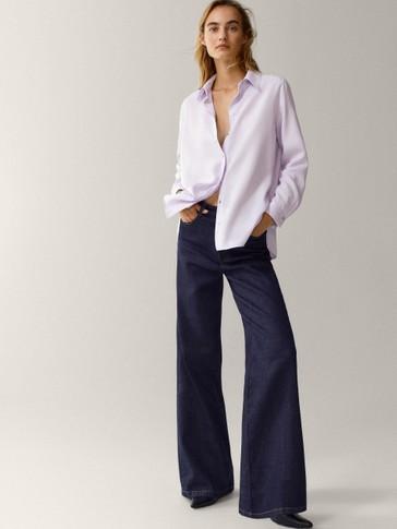 Plain 100% lyocell shirt