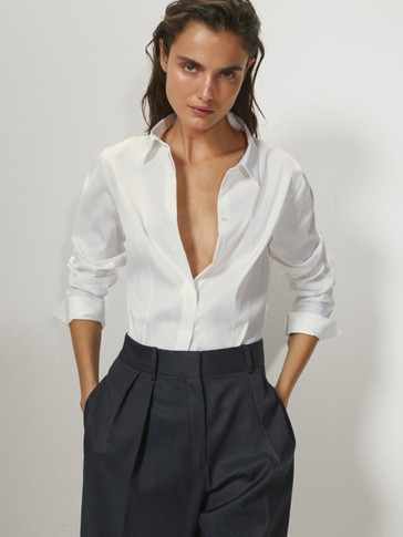 CAMICIA STRETCH IN CANUTIGLIA