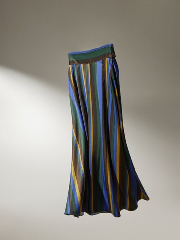 Skirt with coloured stripes