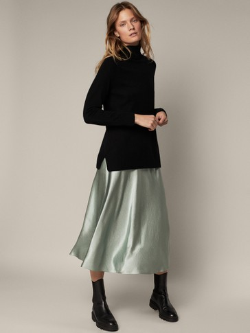 Metallic finish skirt
