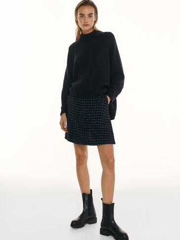 Σκούρα μπλε φούστα-σορτς