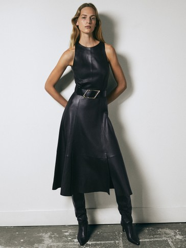 Limited Edition leather dress