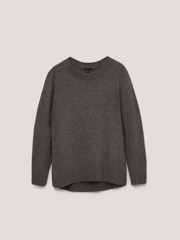 Cape-Pullover aus Wollmischgewebe im Total Look