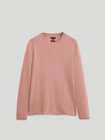 100% cashmere crew neck sweater