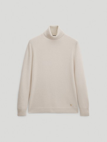 100% cashmere high neck sweater
