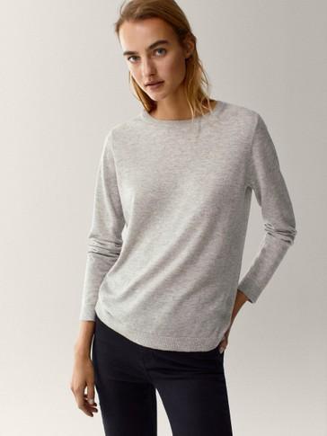 Vuneni pulover okruglog izreza