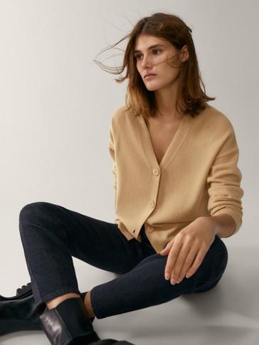 Cárdigan botones lana cashmere