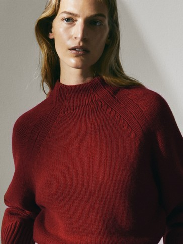 Pullover cropped in lana e cashmere Limited Edition