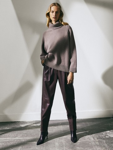 Limited Edition batwing sleeve wool sweater