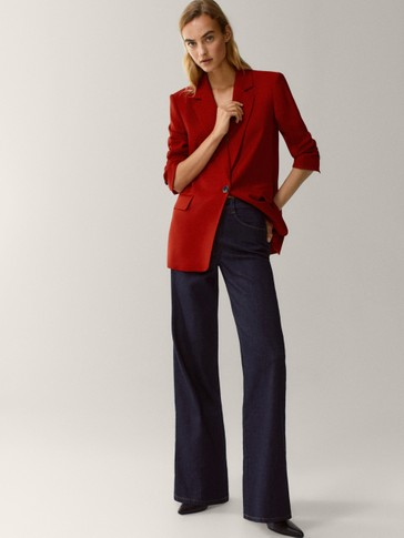 Flannel wool blazer
