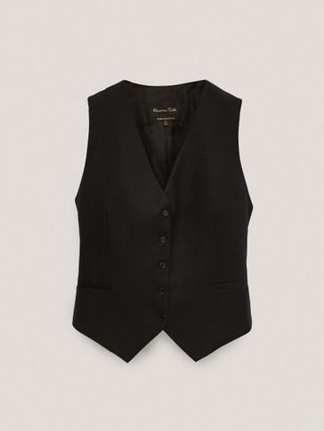 Wool flannel waistcoat