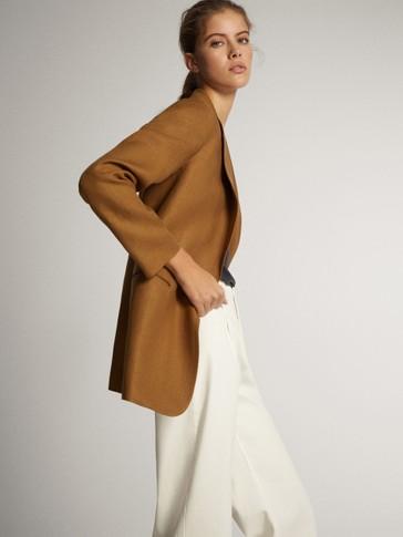 Long linen blazer