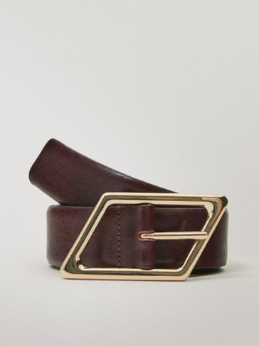 Calfskin leather belt