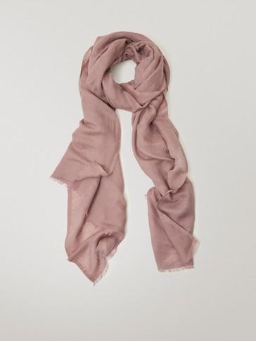 Plain modal linen scarf