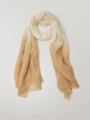 Ombré linen scarf