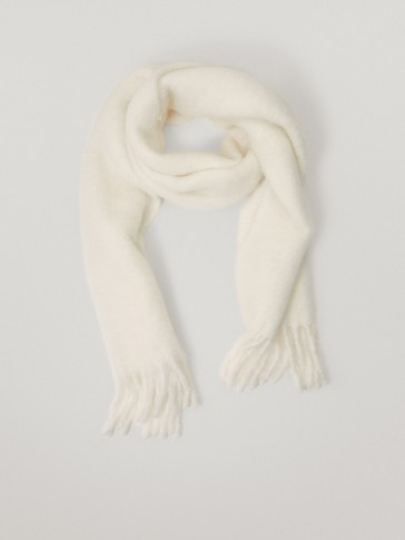 Limited Edition wool scarf with fringe