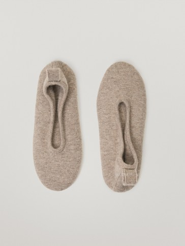 Wool cashmere slipper socks