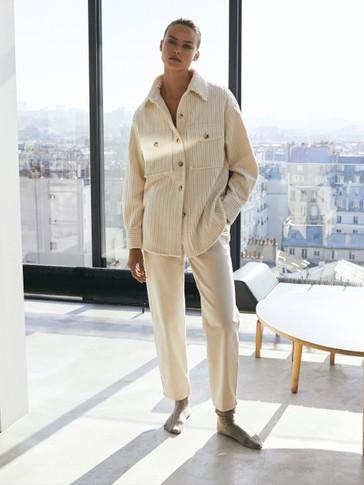 Hemdjacke aus Baumwollcord mit Taschen