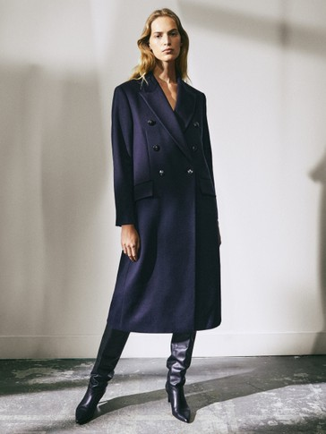 Limited Edition navy blue wool coat