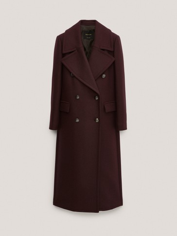 Long buttoned wool coat