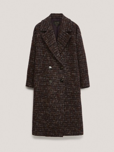 Textured wool coat