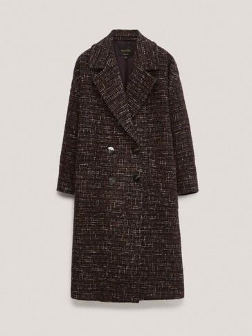 Manteau texturé en laine