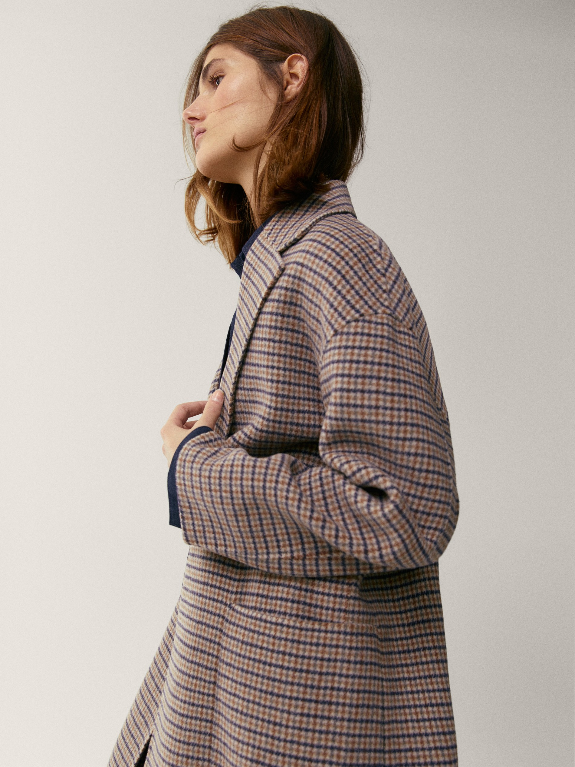 Handcrafted checked wool coat by Massimo Dutti, available on massimodutti.com for $349 Kate Middleton Outerwear Exact Product