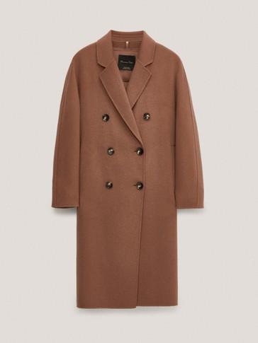 Artisanal wool coat with inner waistcoat