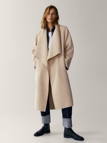 Ručno šivani kaput od 100 % vune