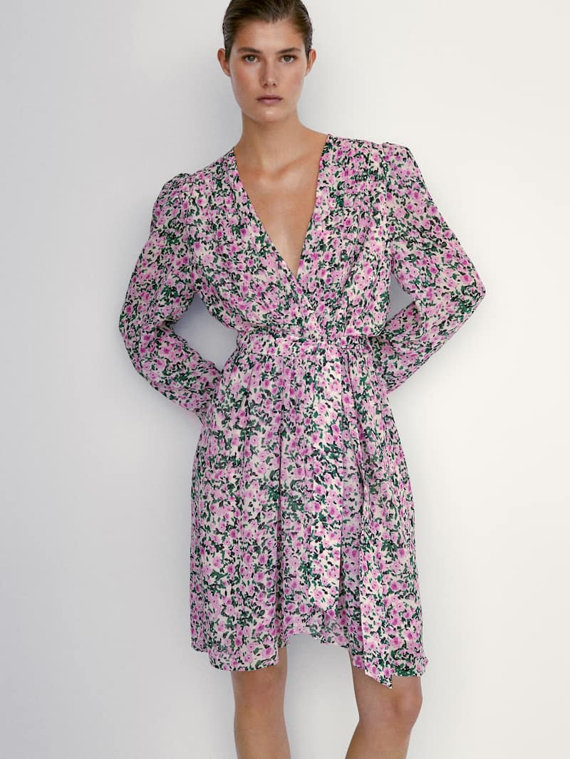 DRESS WITH PRINTED FLOWERS