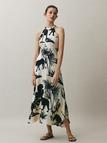 Dress with jungle print
