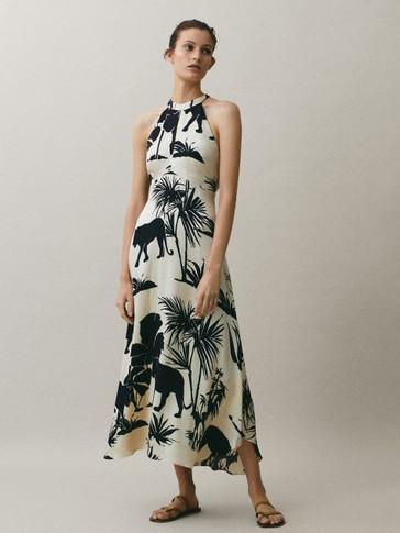 Džunglimustriga kleit
