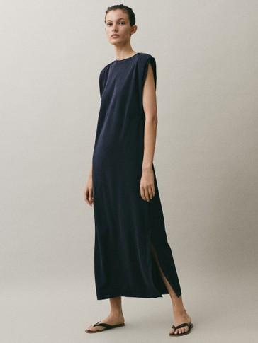Vestido túnica ombreiras
