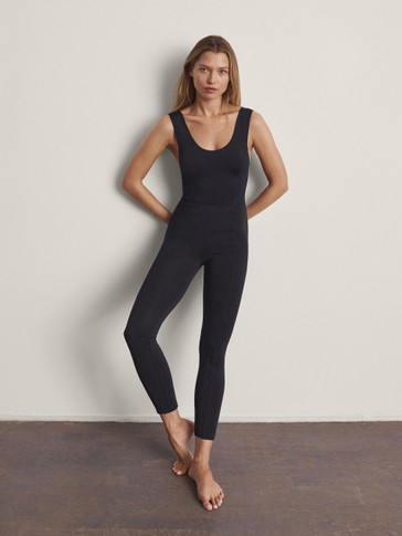 Long strappy jumpsuit
