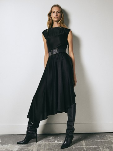 Vestido negro satinado Limited Edition