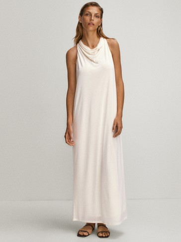 100% lyocell draped dress