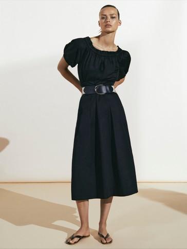 Vestido negro hombros descubiertos