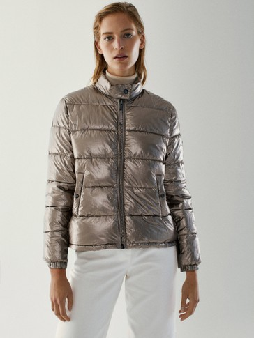 Bomber jakna s efektom lamea