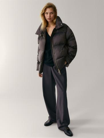 Predimenzionirana prošivena jakna s ispunom