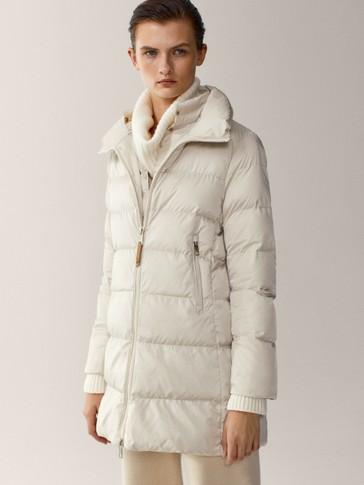 Prošivena i ispunjena jakna srednje dužine