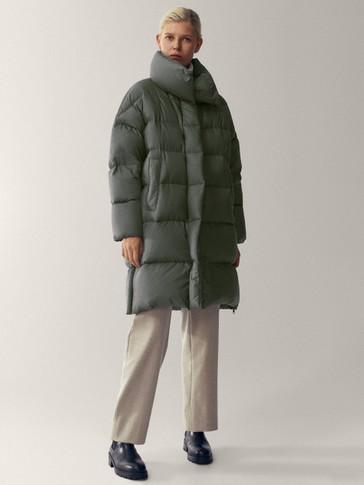 Predimenzionirana duga pernata jakna