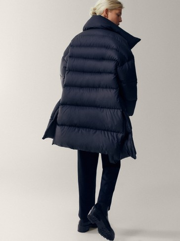 Oversize long down jacket