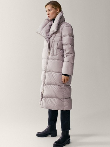 Long wrap down jacket