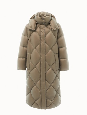 Long padded down jacket