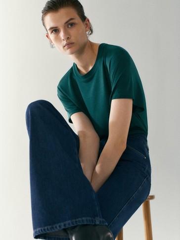 Kortærmet T-shirt i 100% lyocell