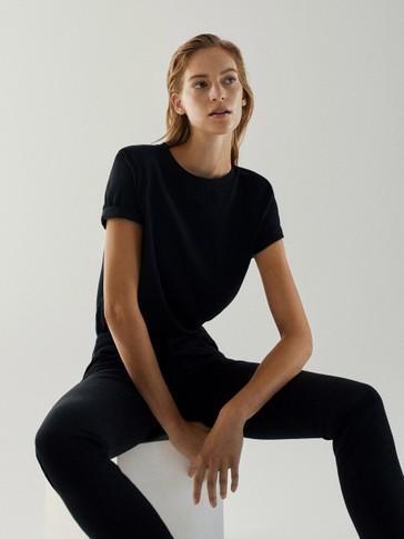 T-shirt à épaulettes en pur coton