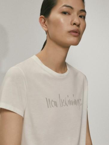 New beginnings lyocell cotton t-shirt
