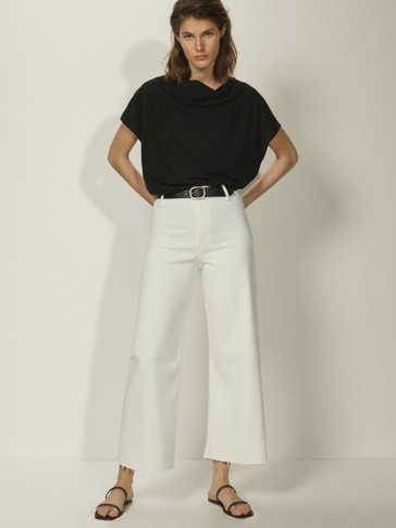 Draped T-shirt with back bow