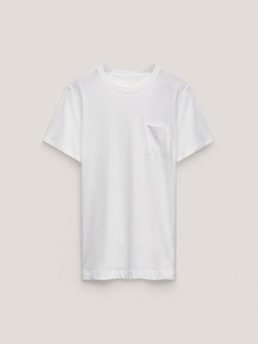 Kurzärmeliges Shirt aus reiner Baumwolle